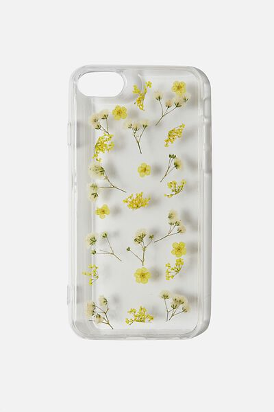 Protective Phone Case 6, 7, 8, SE, TRAPPED MICRO FLOWERS