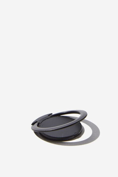 Ultra Thin Phone Ring, BLACK RUBBERISED