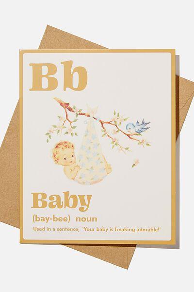Baby Card, BABY NOUN