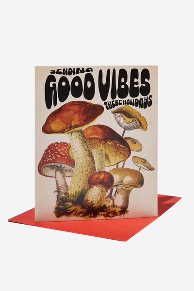 Christmas Card 2021, GOOD VIBES MUSHROOMS