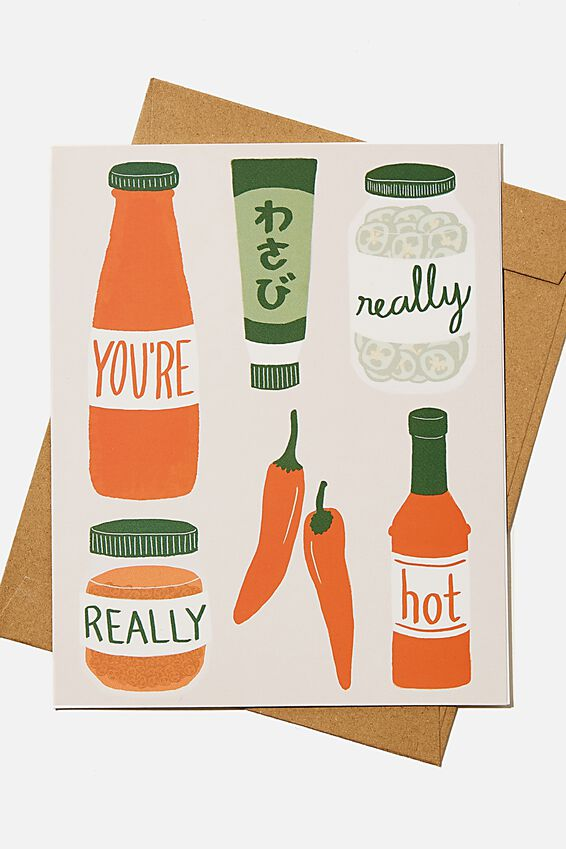 Valentines Day Card 2021, YOU RE REALLY HOT SAUCE