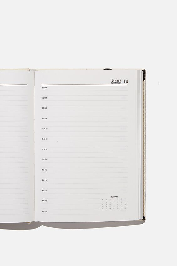2021 A5 Oxford Daily Diary, ECRU OVERSIZED POLKA