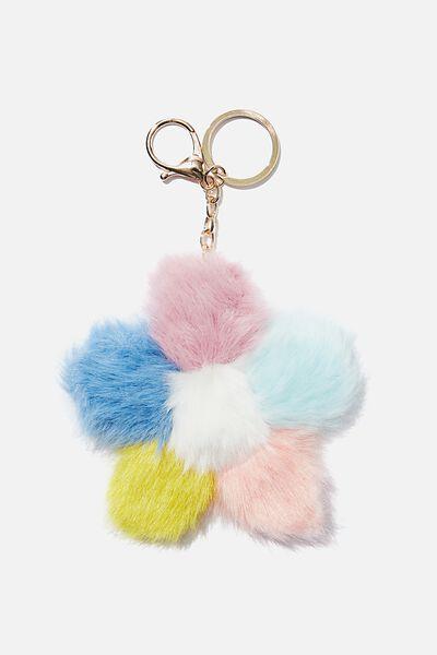 Bag Charm, POM FLOWER RAINBOW
