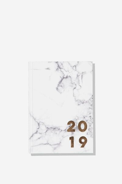 2019 Daily List Planner, MARBLE