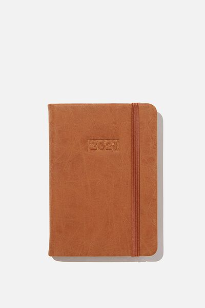 2021 A6 Weekly Buffalo Diary, MID TAN