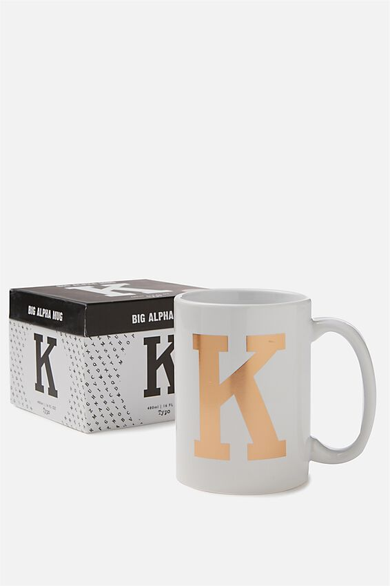 Big Alphabet Mug, ROSE GOLD K