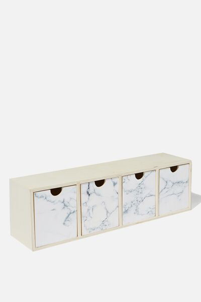 Quick Desk Drawer Storage, MARBLE