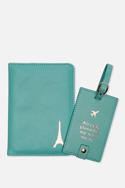 Passport Holder & Luggage Tag Set, VACAY
