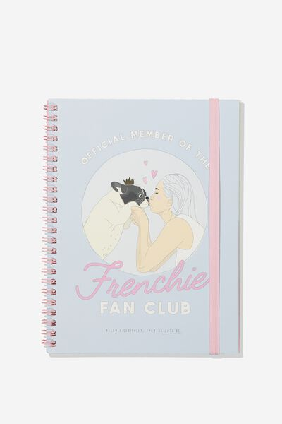 A5 Spinout Notebook - 120 Pages, FRENCHIE FAN CLUB