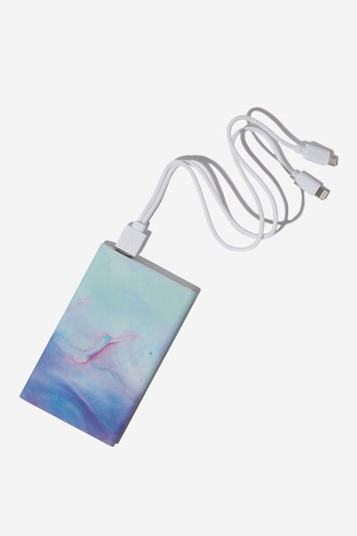 Printed Charge It Charger, PARADISE WATERCOLOUR