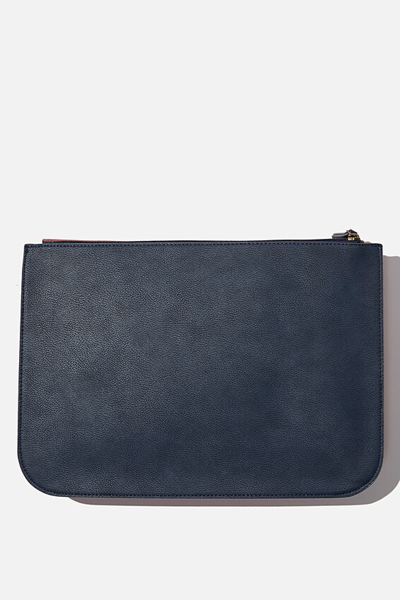 Buffalo 13 Inch Tech Folio, RUST AND NAVY