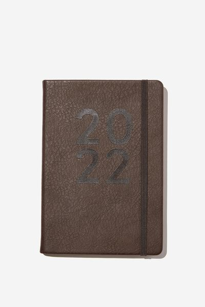 2022 A5 Weekly Buffalo Diary, BITTER CHOC