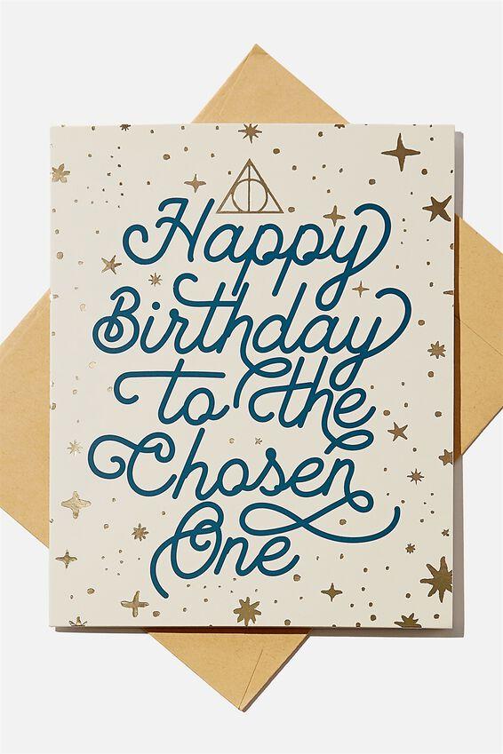 Harry Potter Nice Birthday Card, LCN WB HPO CHOSEN ONE