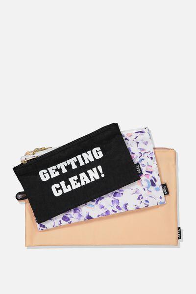 3Pc Travel Bag Set, GETTING CLEAN