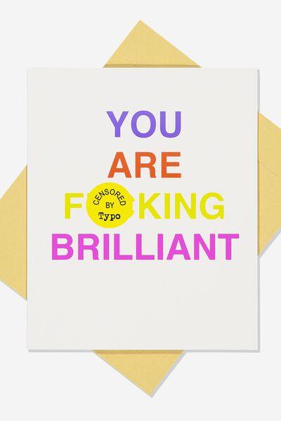 Blank Card, F**KING BRILLIANT!!
