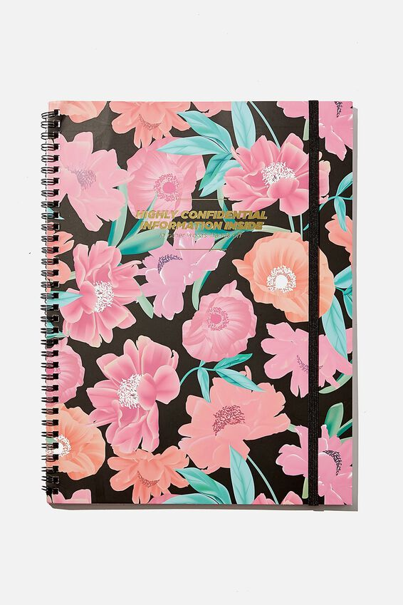 A4 Spinout Notebook Recycled, HIGHLY CONFIDENTIAL