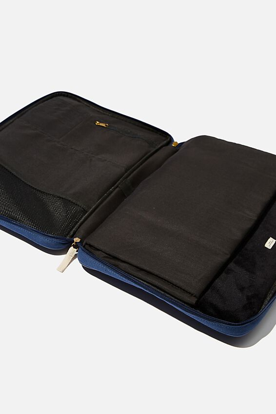 Canvas Folio 15 Inch Laptop Folio, WASHED NAVY