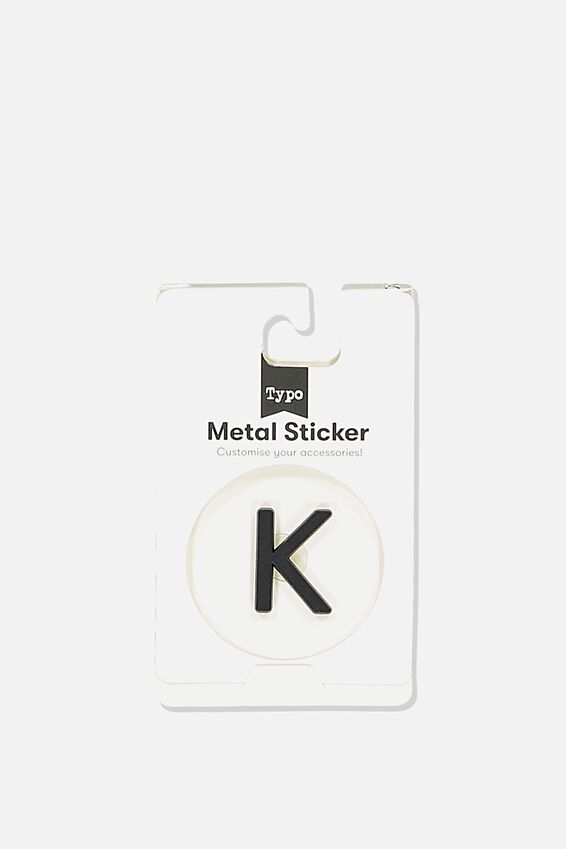 Metal Stickers, BLACK K