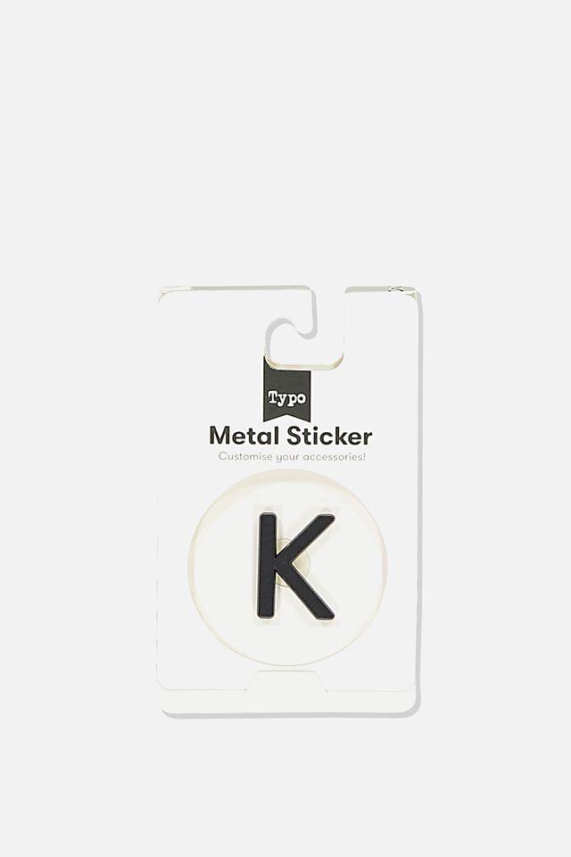 Metal Stickers, BLACK K