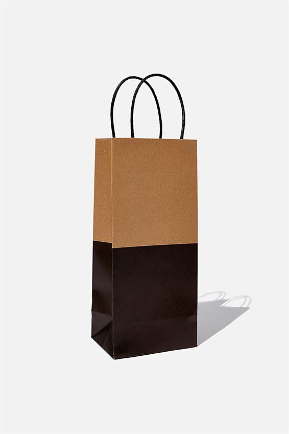 Bottle Gift Bag, CRAFT BLACK SPLICE