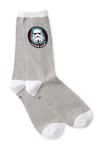 Mens Novelty Socks, LCN STORM TROOPER ICON