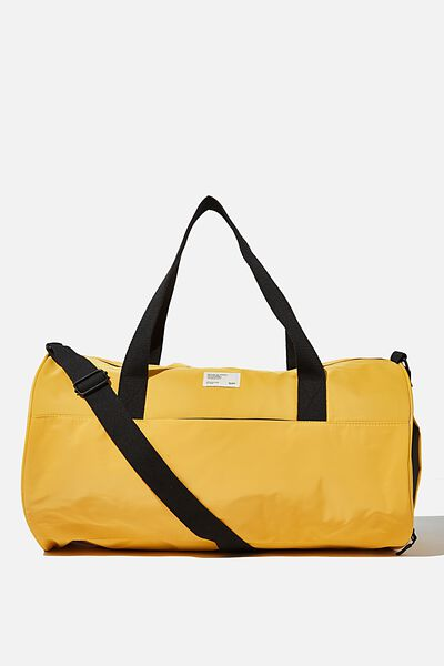 Premium Barrel Bag, MUSTARD AND KHAKI