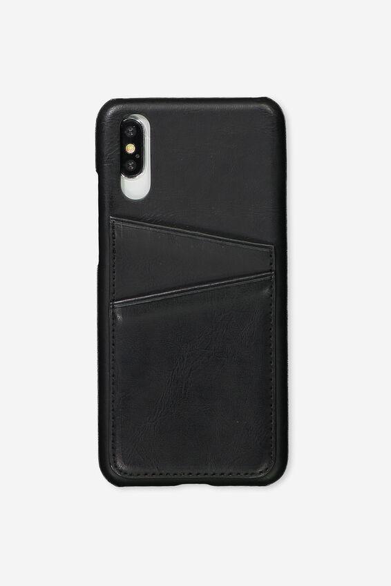 Cardholder Phone Case Huawei P20, BLACK