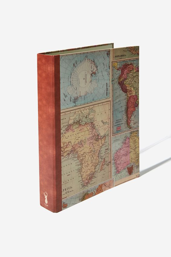 A4 Ring Binder, TAN MAP