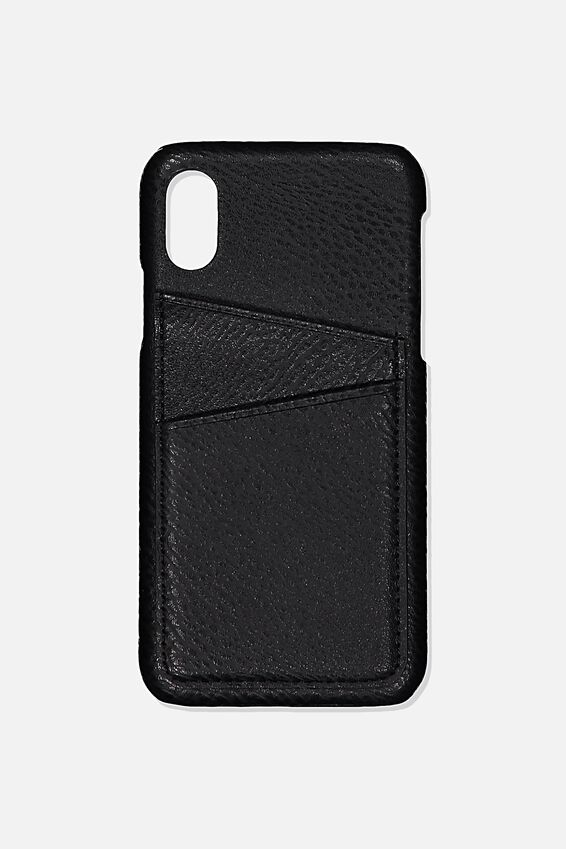 Cardholder Phone Case Iphone X,Xs, BLACK PEBLLE