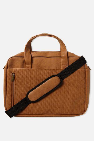 Take Charge Laptop Bag 15in, MID TAN