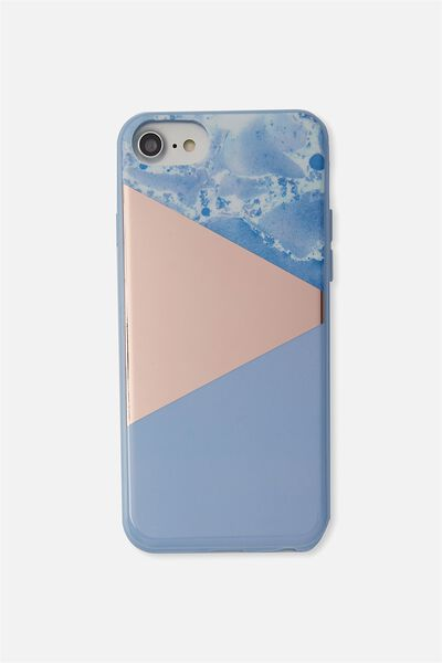 Printed Phone Cover Universal 6,7,8, BLUE MARBLE