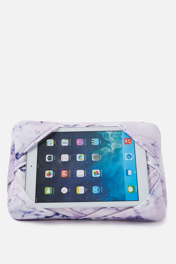 Tablet Cushion, LUSH MARBLE