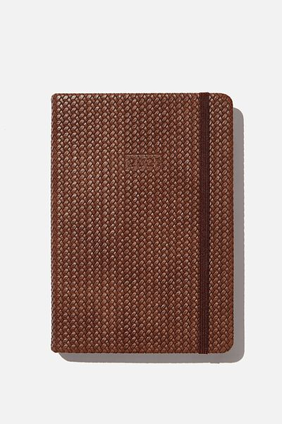 2021 A5 Daily Buffalo Diary, BROWN BASKET WEAVE