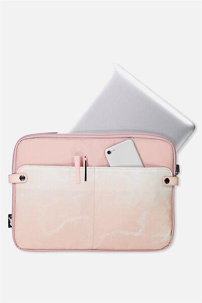 Varsity Laptop Case 13 Inch, BLUSH MARBLE