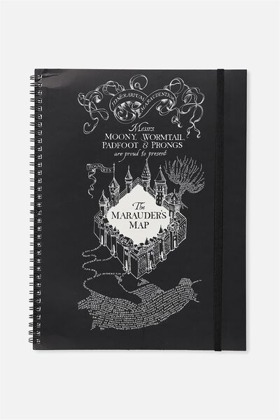 A4 Spinout Notebook - 120 Pages, LCN HP MARAUDERS MAP