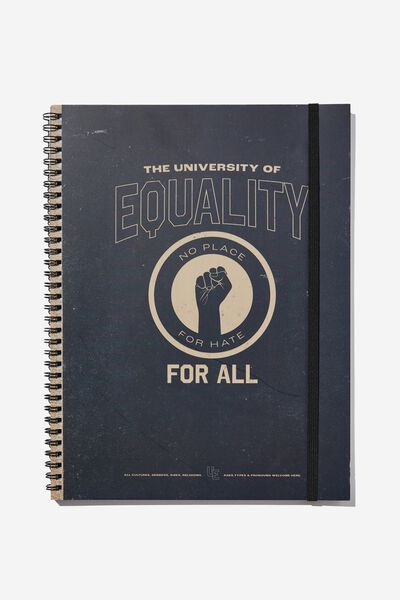 A4 Spinout Notebook Recycled, EQUALITY FOR ALL COLLEGIATE