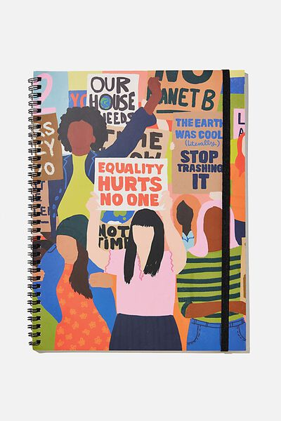 A4 Spinout Notebook Recycled, EQUALITY HURTS NO ONE