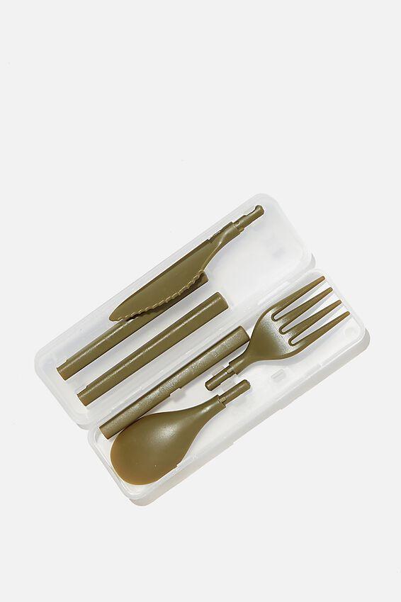 Cutlery Sets, KHAKI