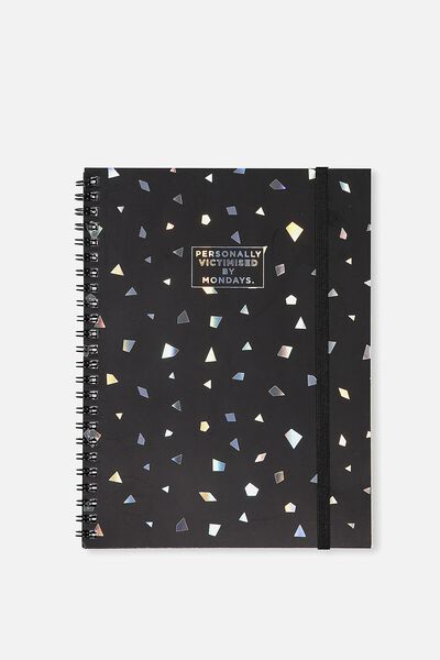 A5 Spinout Notebook - 120 Pages, VICTIMISED BY MONDAYS PEARL FLECK