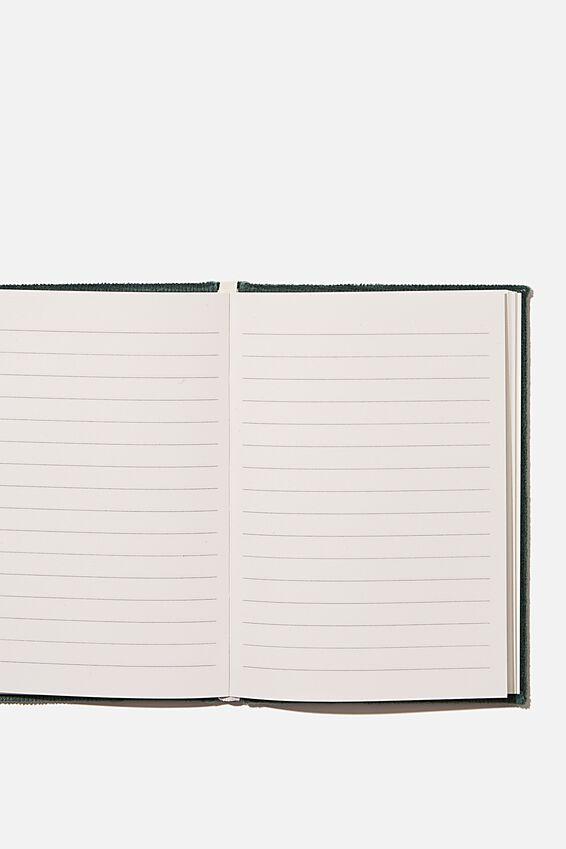 A6 Oxford Notebook, DEEP GREEN CORD