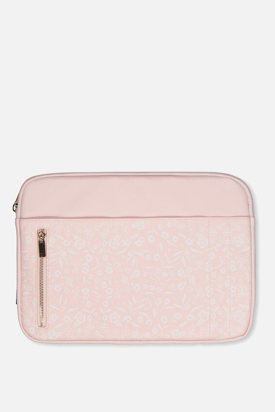 Take Charge Laptop Cover 13 inch, BLUSH LACE