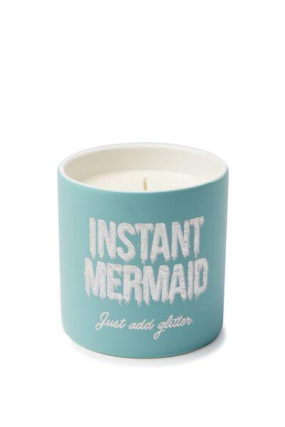 Ceramic Jar Candle, INSTANT MERMAID