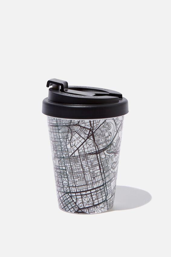 Take Me Away Mug, BLACK MAP