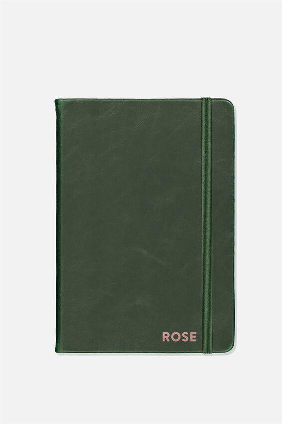 A5 Buffalo Journal Personalised, DEEP GREEN