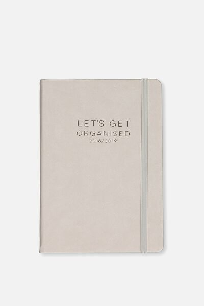 2018 19 A5 Daily Buffalo Diary, GREY