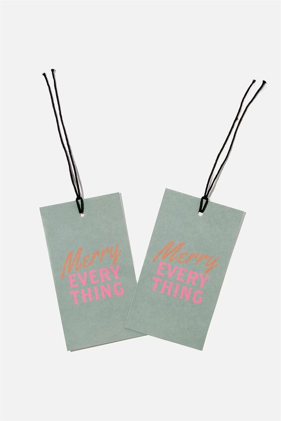 Jumbo Gift Tag Pack, MERRY EVERYTHING
