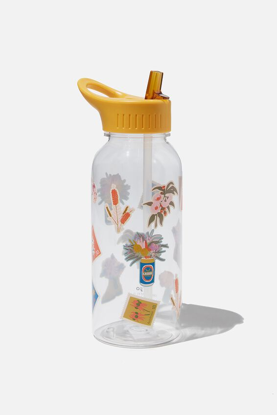 Drink It Up Bottle, FLORAL STICKERS