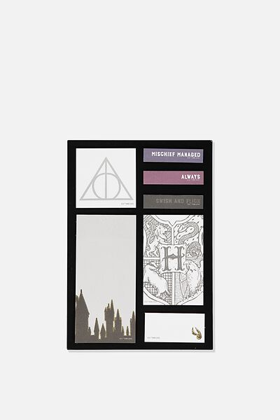 "A5 Shaped Sticky Note (8.27"" x 5.83""), LCN WB HPO DEATHLY HALLOWS"