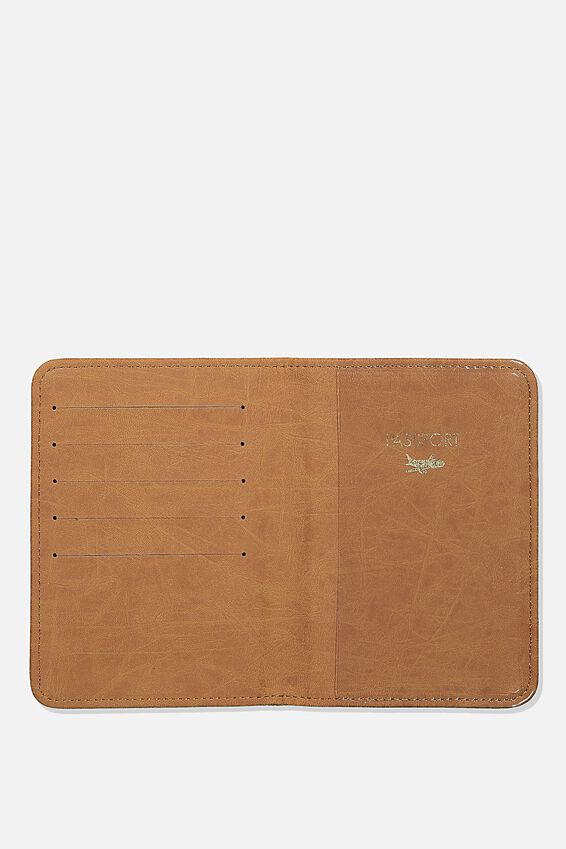 Rfid Passport Holder, WASHED KHAKI