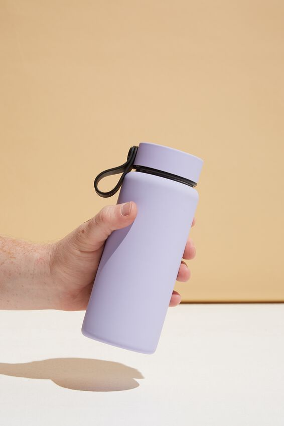 On The Move Metal Drink Bottle 350Ml, PALE LILAC
